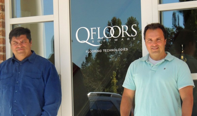 Chad Ogden and Trent Ogden QFloors New Office